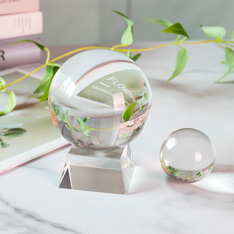 100mm Lensball Clear Glass Crystal Ball