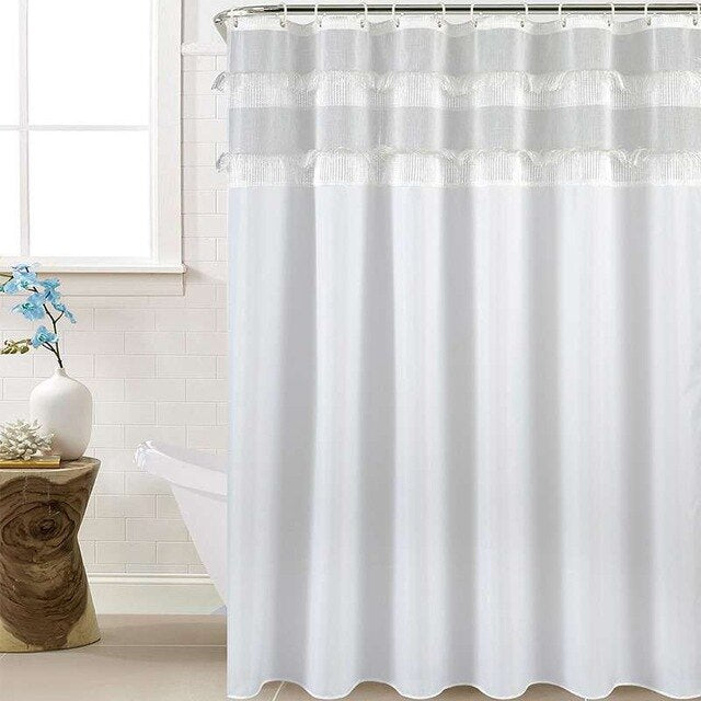 Joint Shower Curtain With Tassel Waterproof
