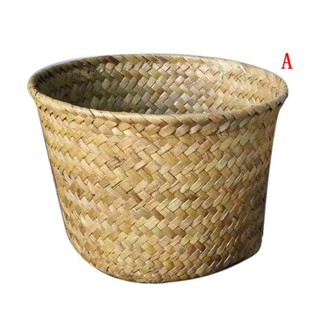 Handmade Bamboo Storage Baskets Foldable Laundry
