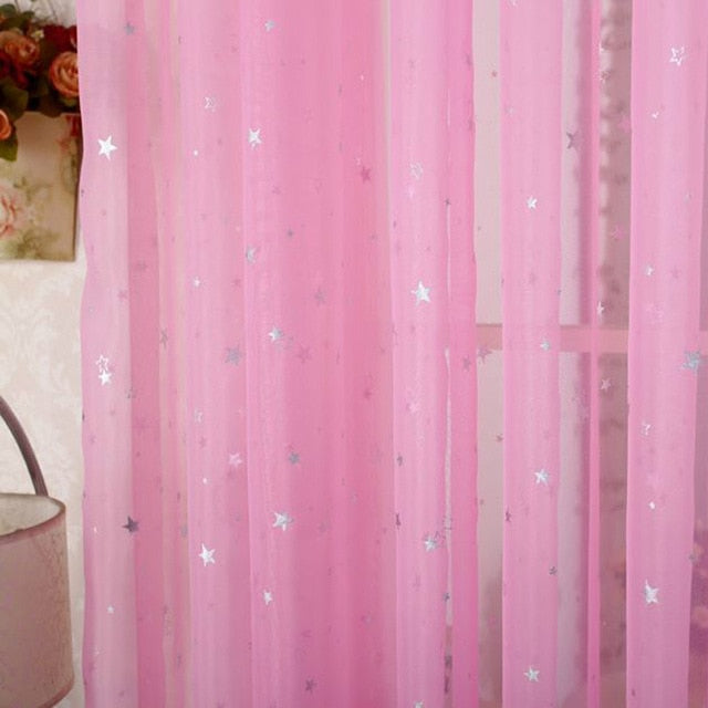 White Star Tulle Curtains Modern Curtains
