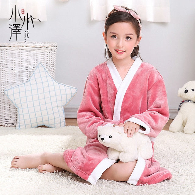 Unisex Fleece Bathrobe for kids