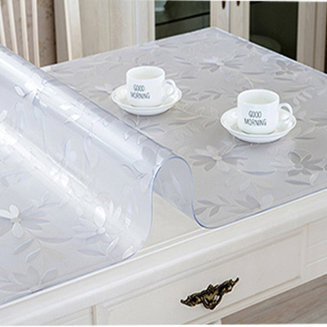 Rectangular Transparent PVC Table Cover