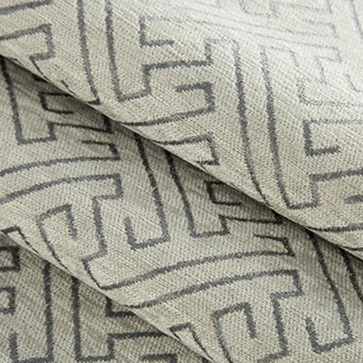 Geometric double-sided jacquard chenille curtain