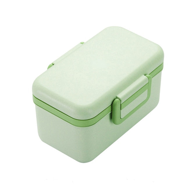 BPA Free Bamboo Lunch Box Eco-friendly Microwaveable