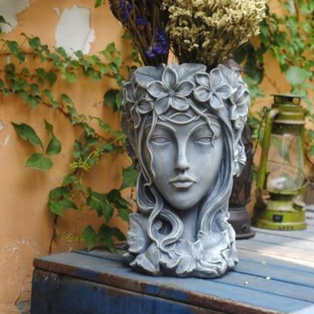 Creative Goddess Head Succulents Flower Vase Statue planter for Balcony