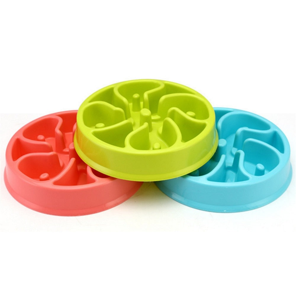 Portable Pet Dog Feeding Food Bowls Puppy Slow Down Eating Prevent Obesity
