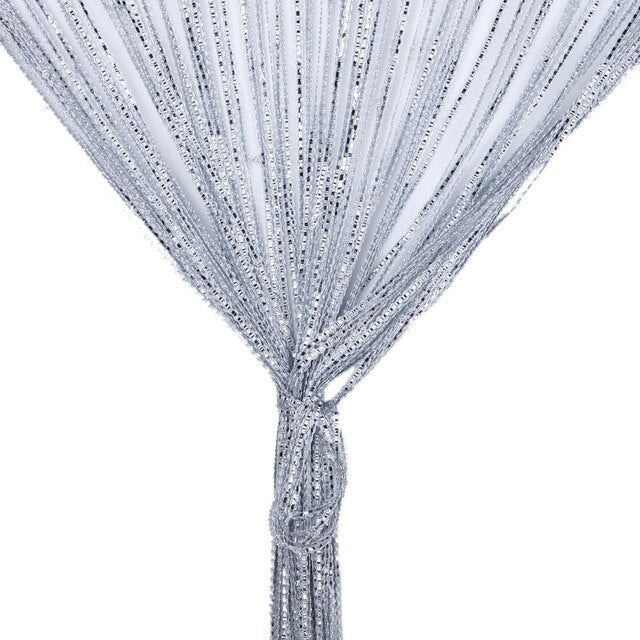 String Curtains Crystal Beads Tassel Line