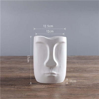 Nordic Minimalist Ceramic Abstract head Vase