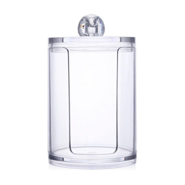 Acrylic Multi-functional Round Qtip Container