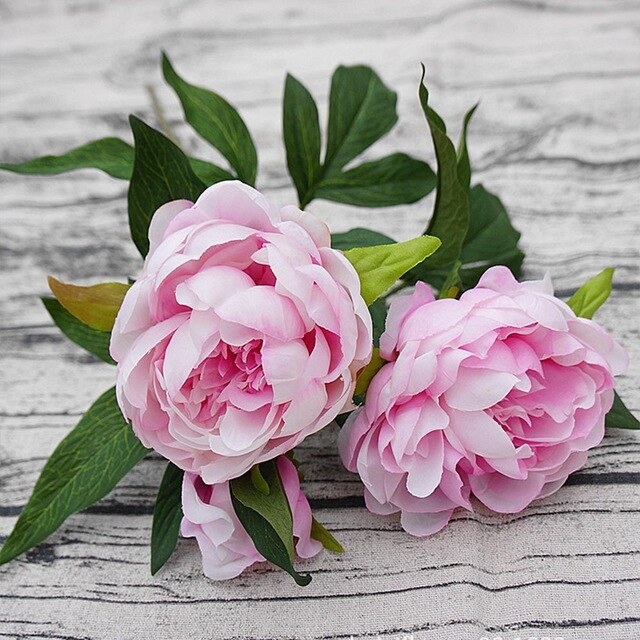 3 heads/1 bundle silk Peony bouquet