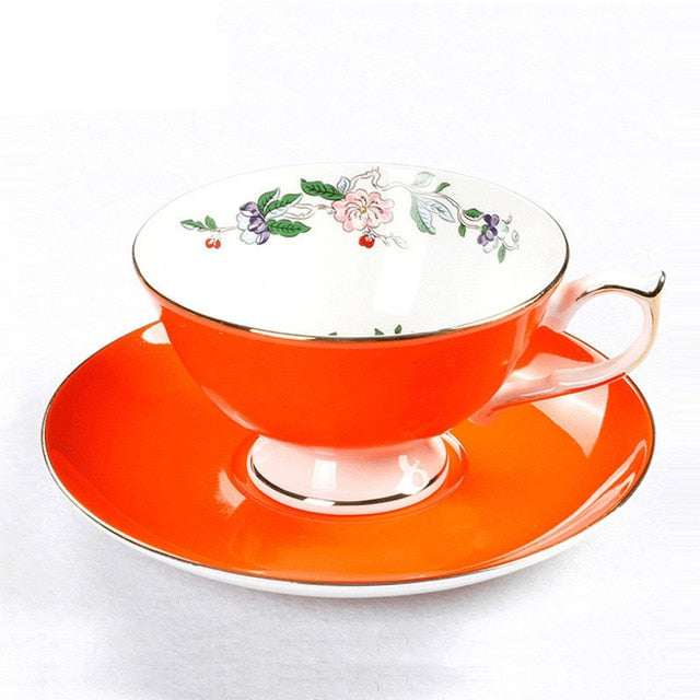 Ceramic Cups And Saucers For 200ML Drinkware Set