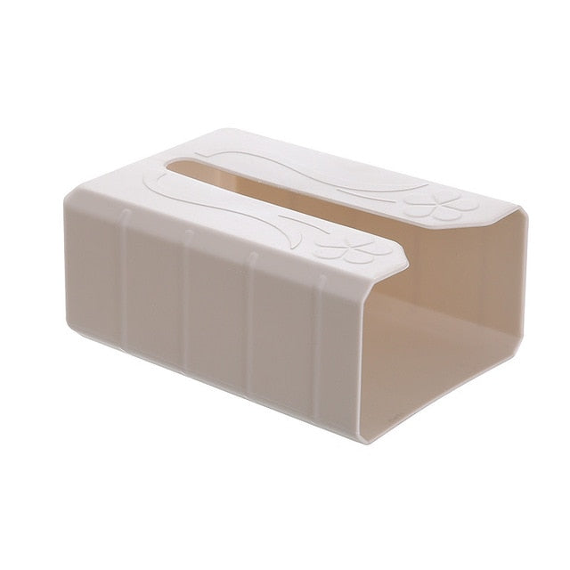 Tissue Box Self Adhesive Napkin Holder Wall Mounted