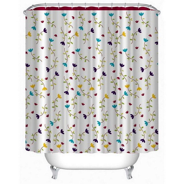 Geometric Shower Curtain Waterproof with 12PC Hooks