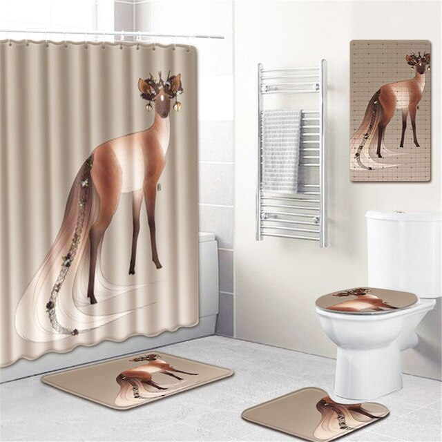 5 Piece Bathroom Rug Set