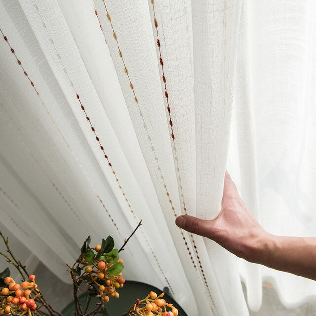 Jacquard Meteor Tulle Curtains for Living Room
