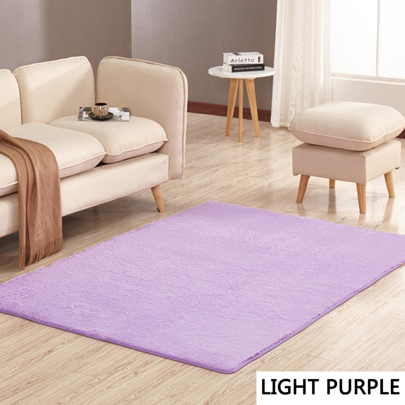 Bedroom or Living Room Modern Short Haired Rug