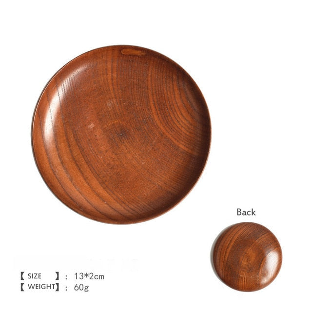 Round Wooden Plate for snacks
