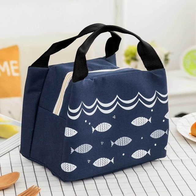 Portable Insulated Thermal Cooler Bento Lunch Box Tote Picnic Storage Bag
