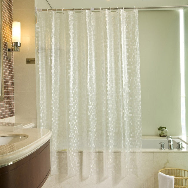 Waterproof Modern Cobblestone Geometric Bath Curtains