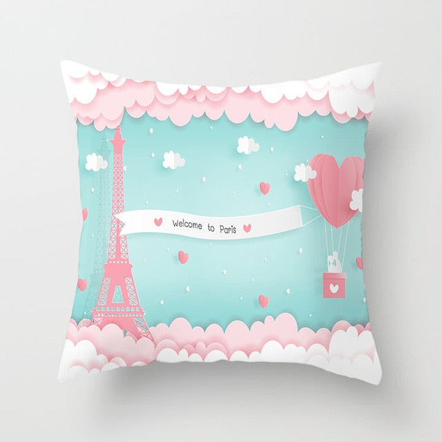 Romantic Valentine's Day Decorative Pillowcases for Kids