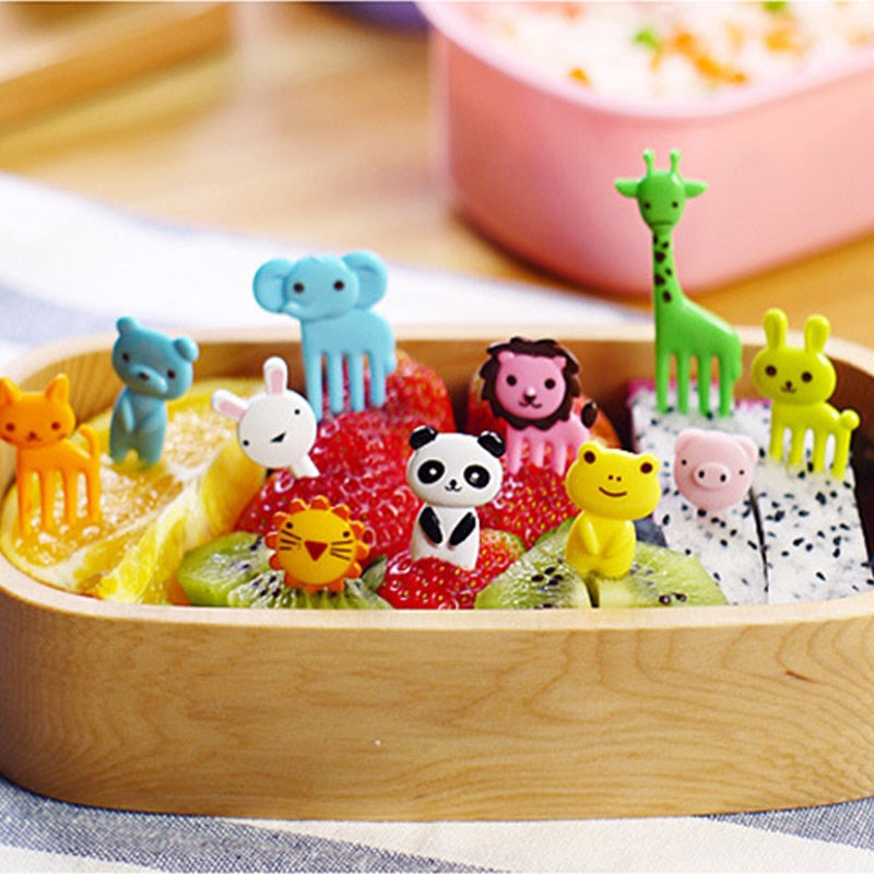 Mini Cartoon Children Snack Cake Dessert Pick