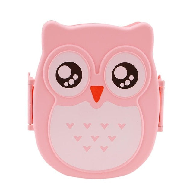 Cute Cartoon Owl Lunch Box Food Container