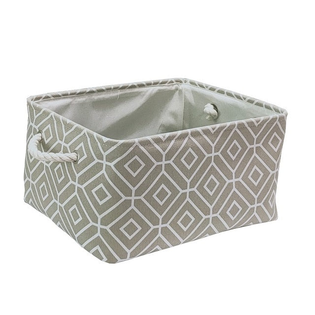 Fabric Organizer Storage Laundry Basket With Handle