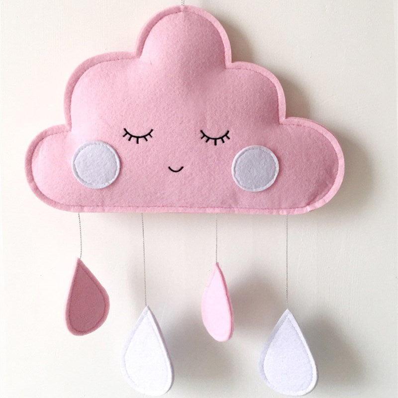 Cloud Raindrop Pendant Wall Hanging Ornaments Nordic Style Kids Room Decorations