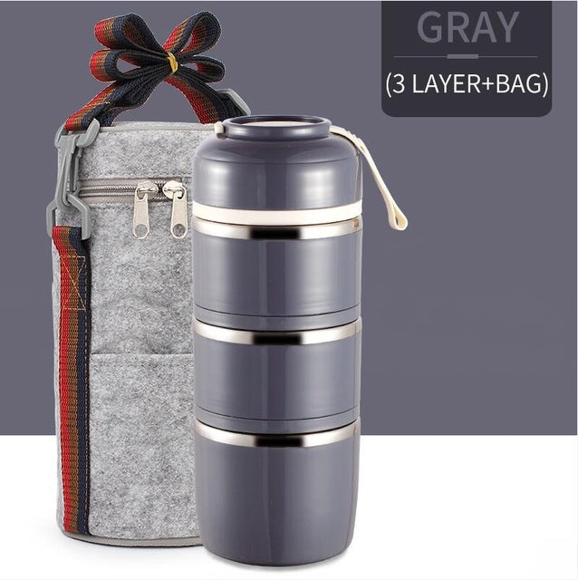 Portable Food Container Stainless Steel Bento Box
