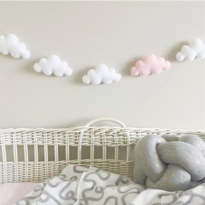 Cloud Garlands String Baby Kids Room Decoration Wall Hanging Ornaments
