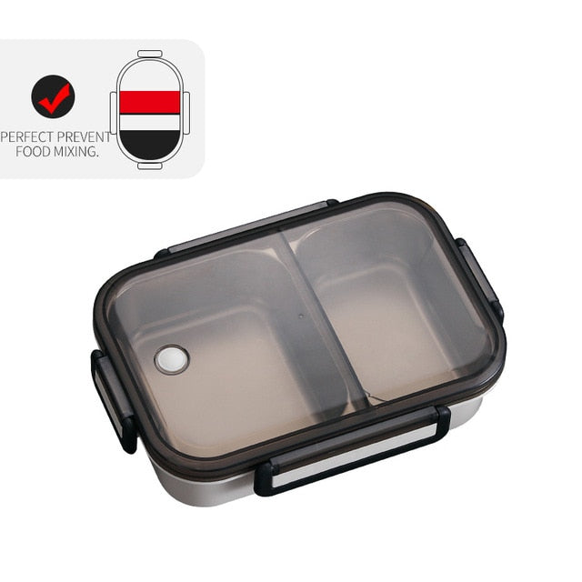 Lunch Box With Compartment 304 Stainless Steel