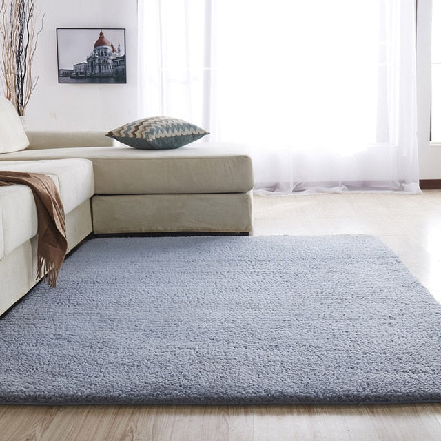 Rectangular Nordic fluffy area carpet/rug for bedroom/living room
