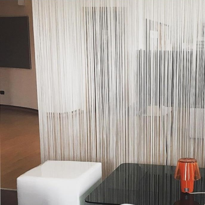 String curtain line for room divider, home decoration or window valance
