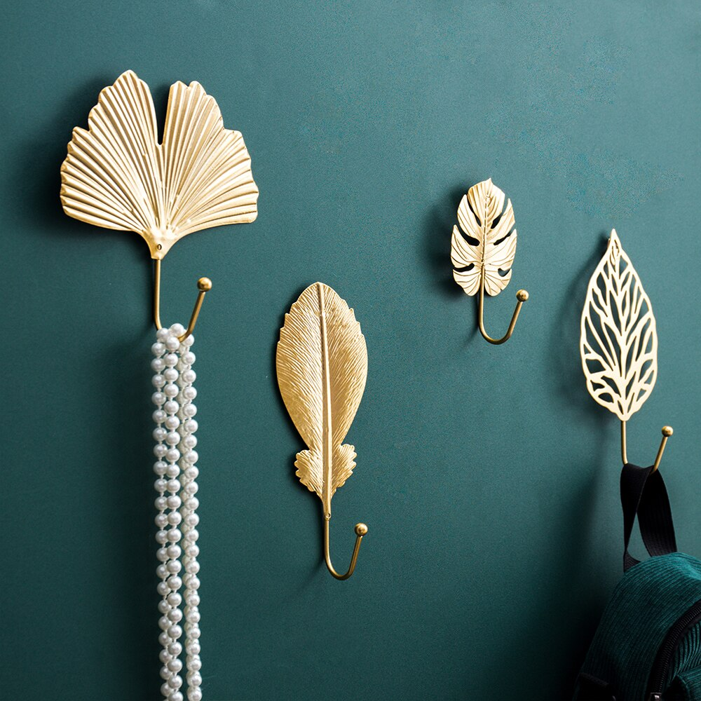 Golden Wall Mini Hook Decor