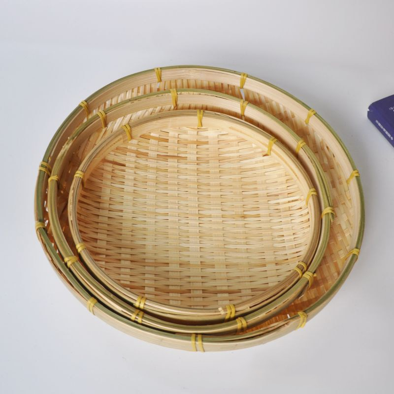 30CM Handmade Bamboo Fruit Dish or Bread Basket