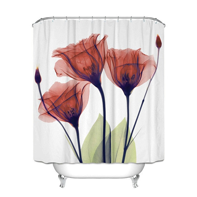 Waterproof Polyester Fabric Shower Curtains