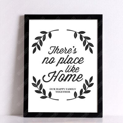 There is no place like HOME - Unframed Canvas Typography Motivation Print