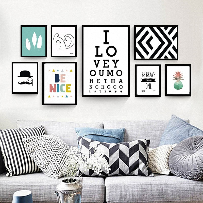 Modern Nordic | Decoration Canvas | Wall Poster | Nursery