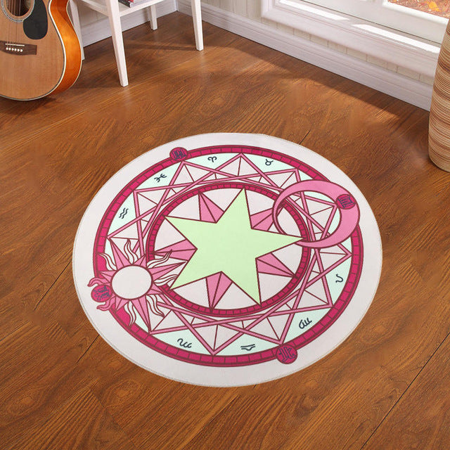 Pentacle Magic Array Round Rug