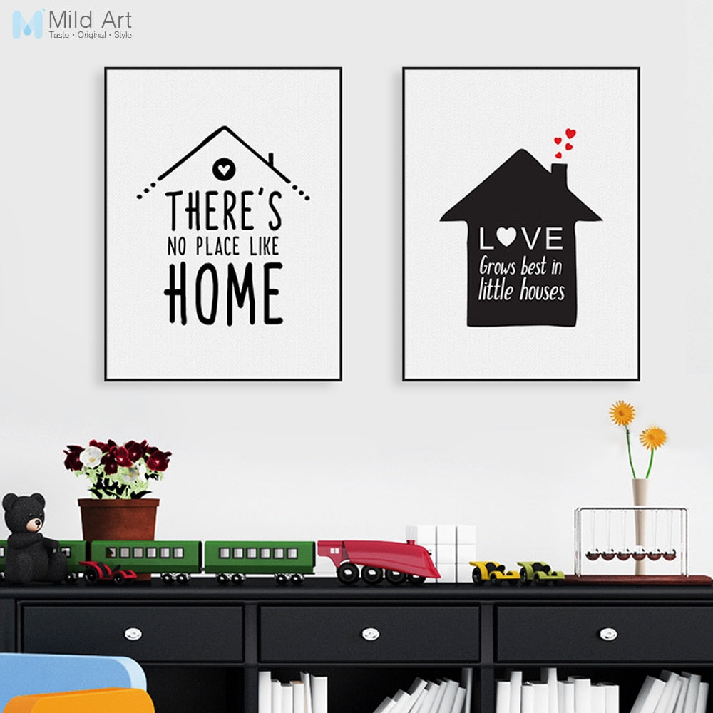 Unframed Nordic Minimalist Typography Love Quotes Art Print Poster Nursery