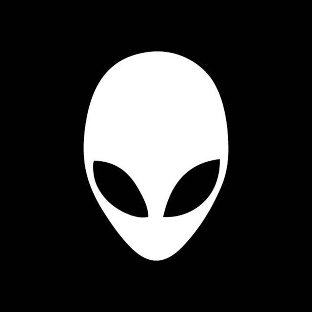 9.6cm*14cm Alien Head Vinyl Decals Car Stickers
