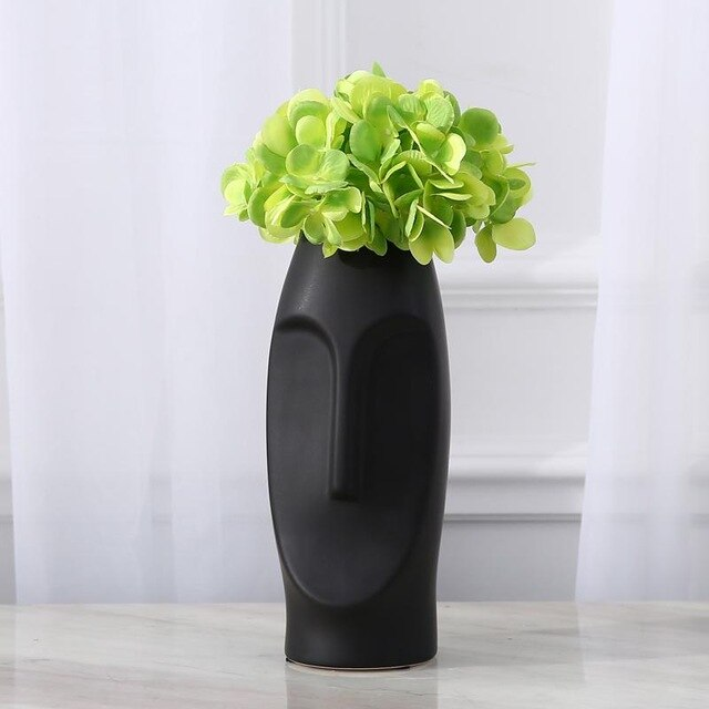 Man Face Contemporary Decorative Vases