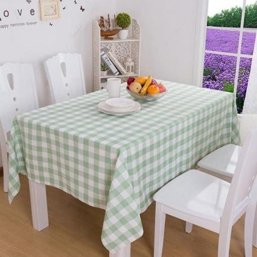 Plaid rectangular tablecloth