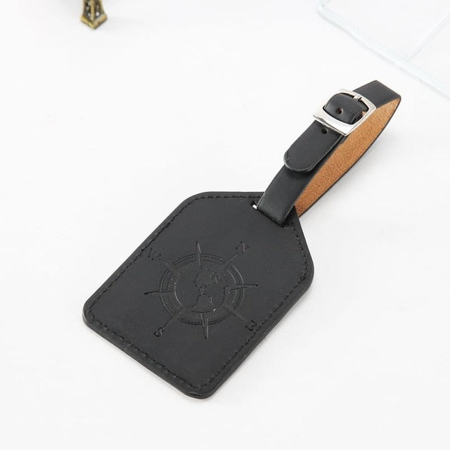 Fashion Compass PU Leather Luggage Tag