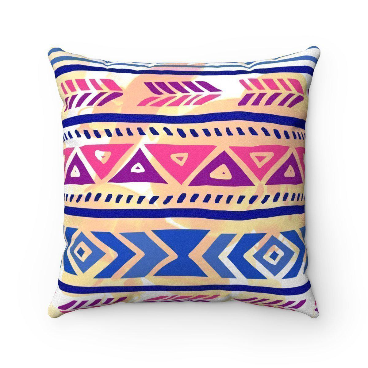 Purple Faux suede 2 in 1 Mexican decorative pillow w/insert-Home Decor - Decorative Accents - Pillows & Throws - Decorative Pillows-Maison d'Elite-Très Elite