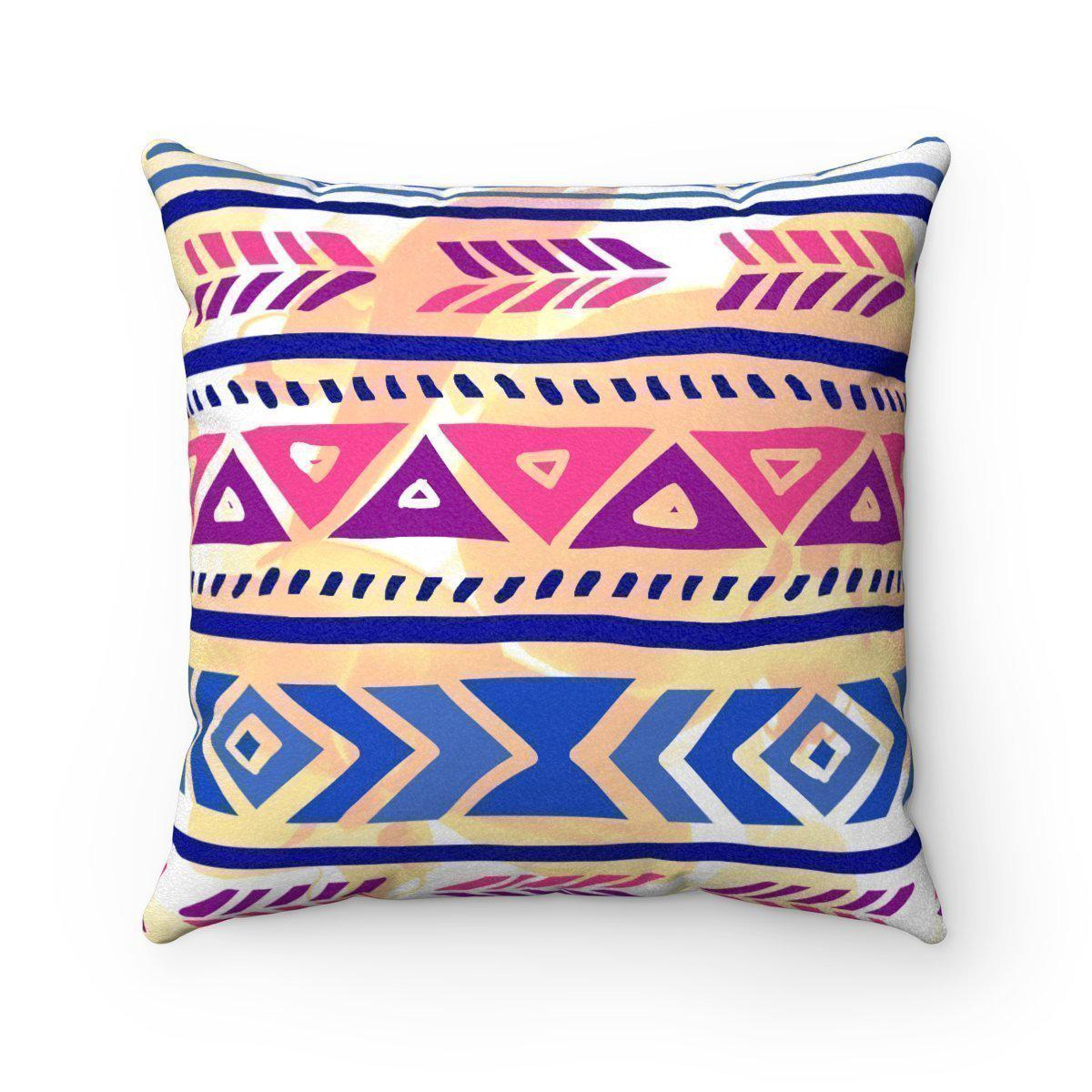 Purple Faux suede 2 in 1 Mexican decorative pillow w/insert-Home Decor - Decorative Accents - Pillows & Throws - Decorative Pillows-Maison d'Elite-16x16-Très Elite