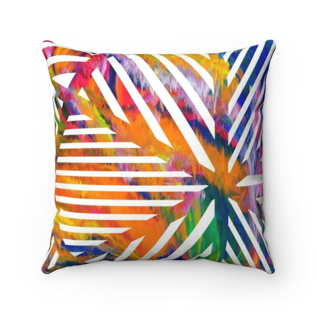 Rainbow geometric decorative cushion cover-Home Decor - Decorative Accents - Pillows & Throws - Decorative Pillows-Maison d'Elite-Très Elite