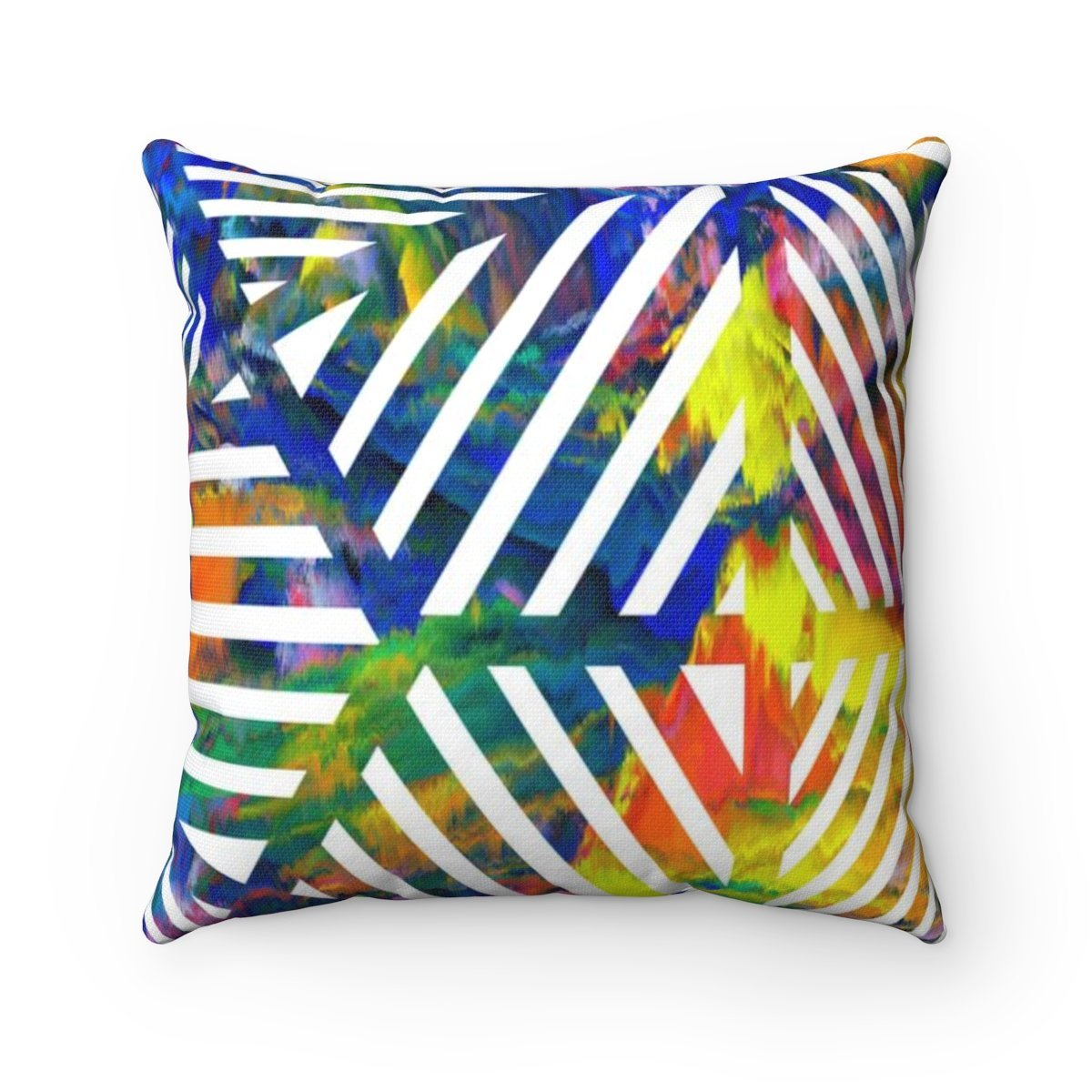 Rainbow geometric decorative cushion cover-Home Decor - Decorative Accents - Pillows & Throws - Decorative Pillows-Maison d'Elite-14x14-Très Elite