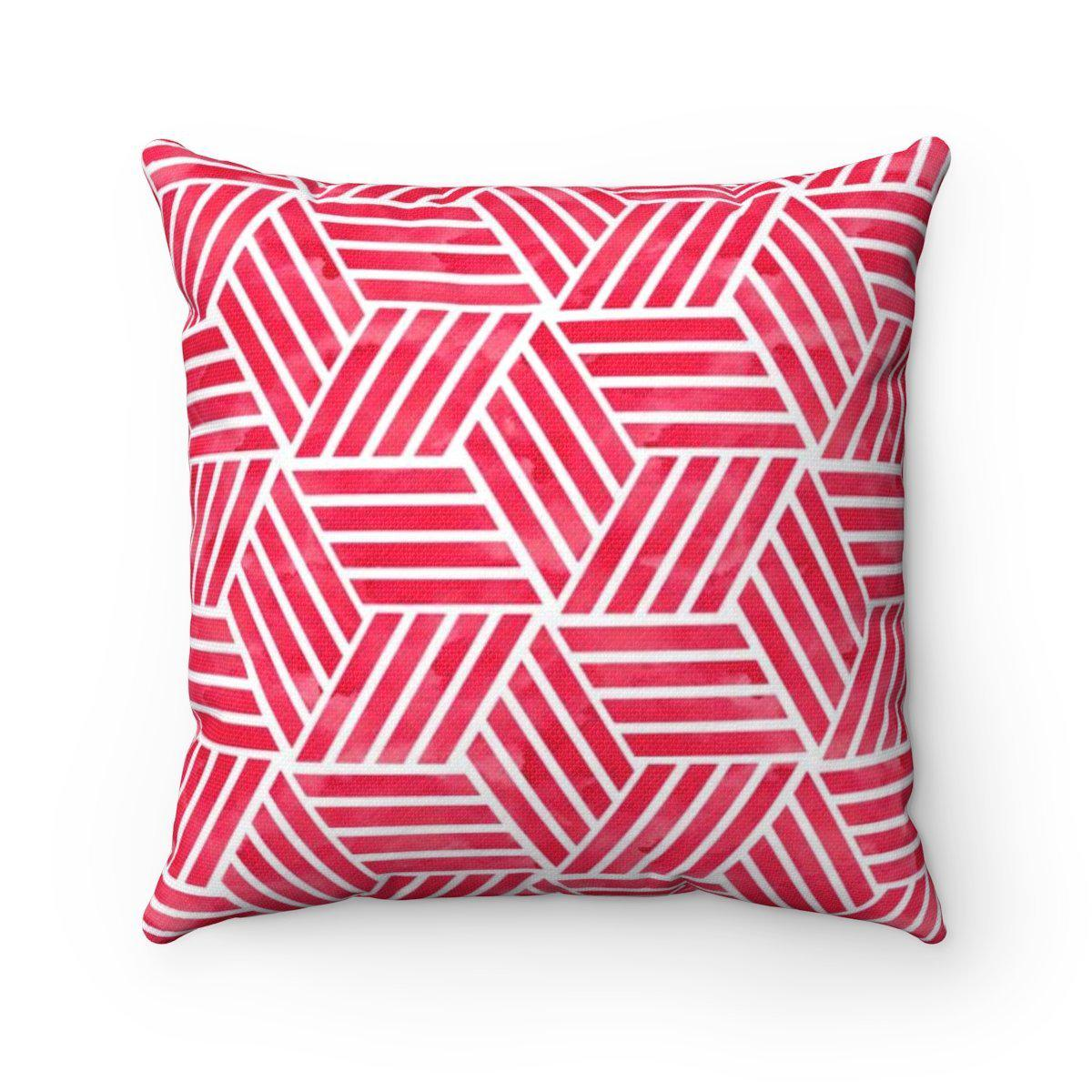 Red geometric decorative cushion cover-Home Decor - Decorative Accents - Pillows & Throws - Decorative Pillows-Maison d'Elite-Très Elite