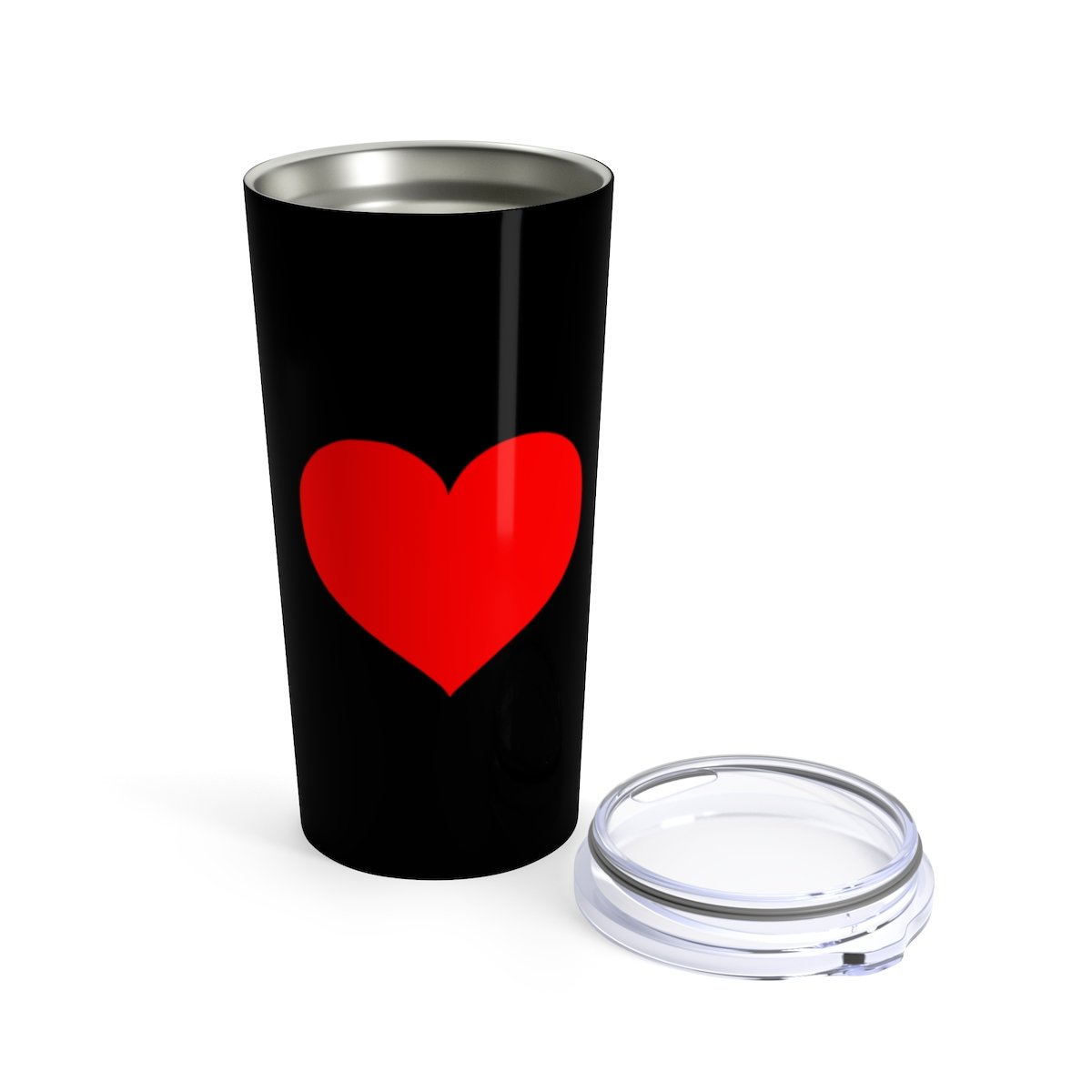 Red heart 20oz Stainless steel valentine travel tumbler-Mug-Printify-20oz-Très Elite